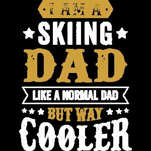 Ski Papa Grunge Geschenk Männer Vater Spruch
