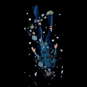 Taucher Unterwasser tauchen Hobby scuba Geschenk