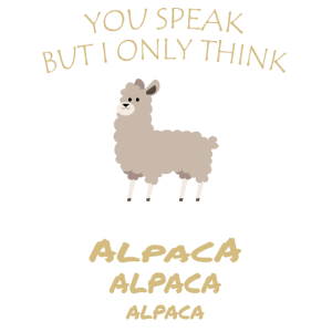 Alpaka Gedanken Alpakas im Kopf