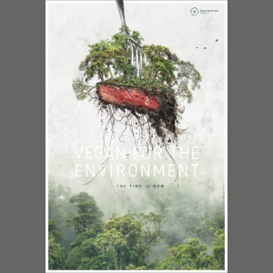"Poster ""Vegan for the environment"""