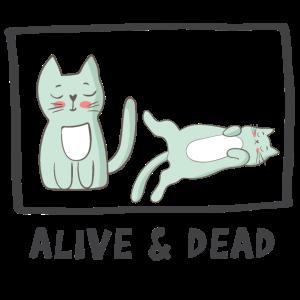 Schrodingers Katze lebendig und tot