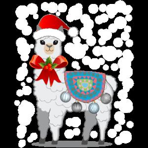 Lama Alpaka Weihnachten Geschenk T-Shirt Shirt