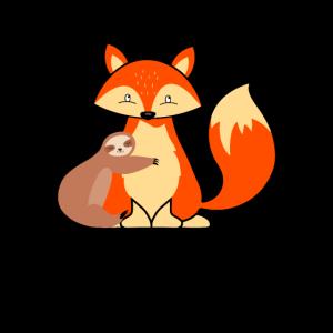 Fuchs Faultier Umarmung