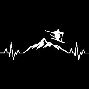 Ski Herzschlag Berge
