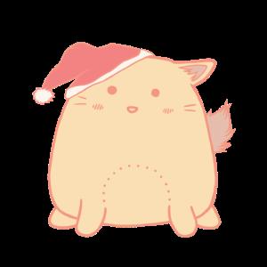 Süße Katze mit Weihnachtsmütze | Weihnachten