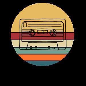 Retro Kassette Mixtape 70er 80er 90er Musik Radio