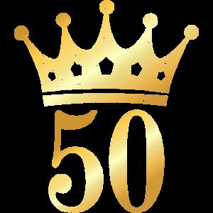 50. Geburtstag Geschenk mit Krone (Goldgelb)