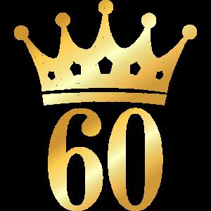 60. Geburtstag Geschenk mit Krone (Goldgelb)