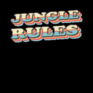 Jungle Rules Urwald Vintage