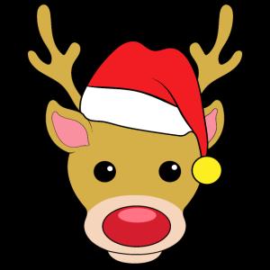 Weihnachten Rudolph Rentier Rote Nase