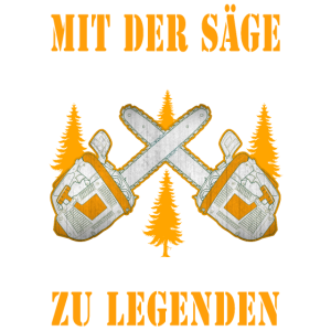 Cooler Spruch Kättensaege Säge Holzfäller Geschenk
