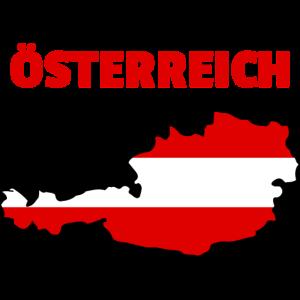 Oesterreich Flagge Karte