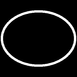 Oval als Vorlage Kreis in blau