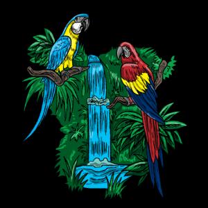 Papagei-lustiges tropisches Vogel-cooles Dschungel-Tiergeschenk