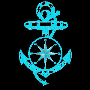 Anker Kompass Schiff Maritim Seefahrt Nautik