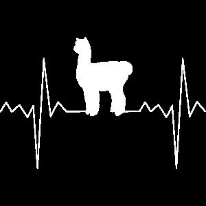 Herzfrequenz Herzschlag Herzlinie Alpaka Geschenk