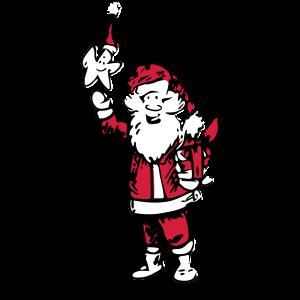 Weihnachtsmann und Stern