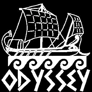 Boot und Odyssee (weiß)
