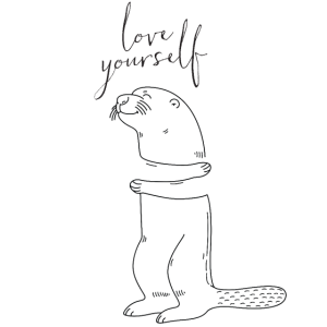 Love Yourself - Cute Otter