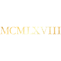 MCMLXVIII 1968 Geburtstag Geschenk (Goldgelb)