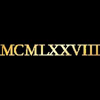 MCMLXXVIII 1978 Geburtstag Geschenk (Goldgelb)