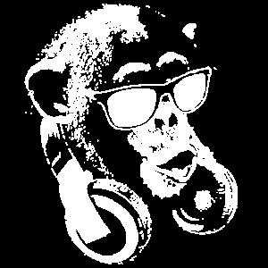 Affe DJ Weiß