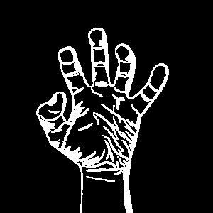 Gezeichnete Hand