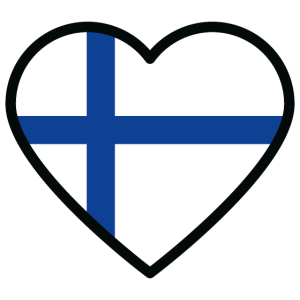 finnland flagge herz
