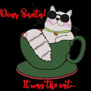 Dear Santa! It was the cat...
