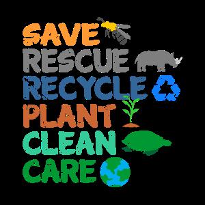 Umweltschützer Grüne Umweltschutz Spruch Öko