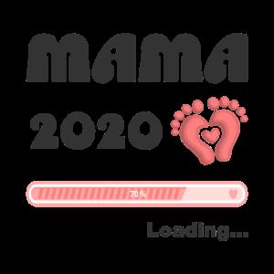 Mama Mutti Mummy 2020 Baby Loading Geschenkidee