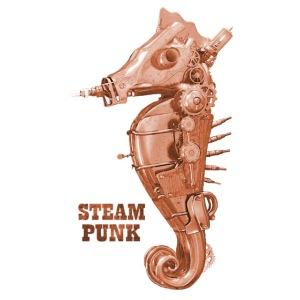 Steampunk Seepferdchen Retro Futurismus