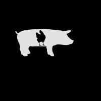 Bauernhof, Kuh, Schwein, Huhn
