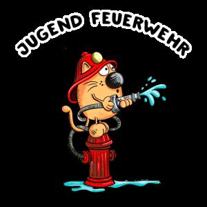 Jugend Feuerwehr Feuerwehrmann Katze