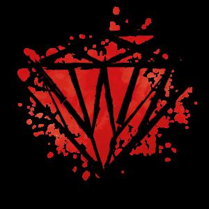diamond red splat