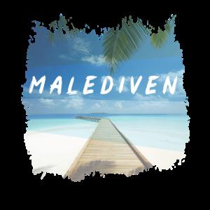 Malediven Insel Urlaub Meer Palmen Reise Geschenk