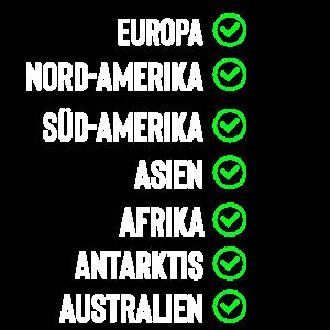 Reisen Kontinente