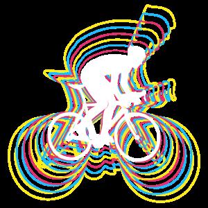 Fahrrad Fahrradfahren Radfahrer Glitch