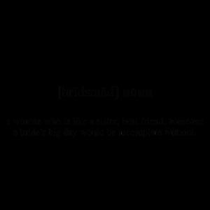 Bridesmaid (Brautjungfer) Definition Dictionary