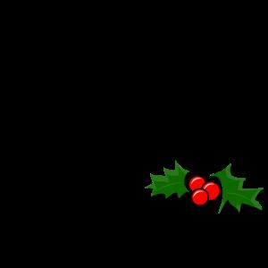 Holly Berry mit frohen Weihnachten - Weihnachtsgruß