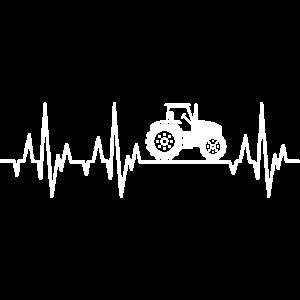 Traktor Herzschlag Landwirt Bauer