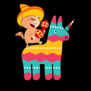 Pinata Einhorn Eichhörnchen Cinco De Mayo Design