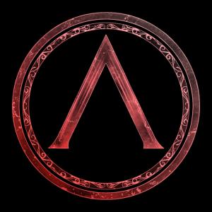 Sparta Lambda Symbol Keltisch Feuerrot