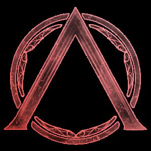 Sparta Lambda Symbol Feuerrot