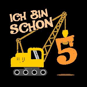 5 Jähriger Geburtstag Jahre Geschenk Kran