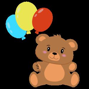 Teddybär mit Luftballons