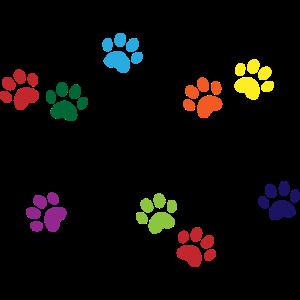 Paw prints Vegan logo / Pfotenabdrücke Design