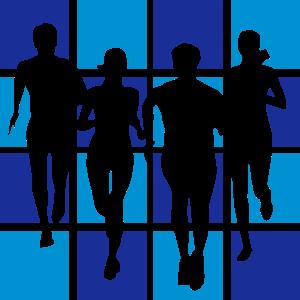 Team beim Laufen, Lauf-Team, Running