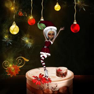 Nettes Weihnachtsmädchen
