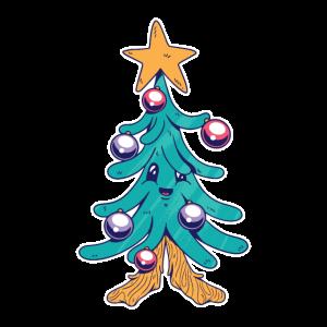 Weihnachtsbaum mit Christbaumkugeln Weihnachten